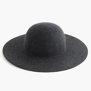 J. CREW 100% Wool Floppy Hat Gray Wise Brim Hat